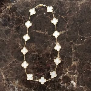 14k gold and mother of pearl necklace